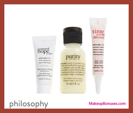 Receive a free 3-pc gift with your $45 Philosophy purchase