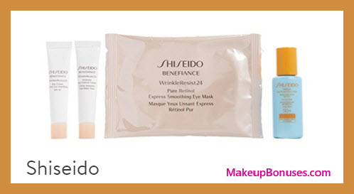 Receive a free 4-pc gift with your $50 Shiseido purchase