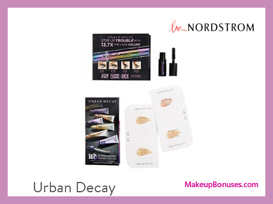 Receive a free 6-pc gift with your $50 Urban Decay purchase