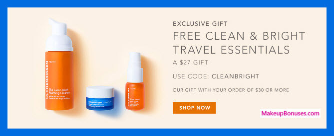 Receive a free 3-pc gift with your $30 OLE HENRIKSEN purchase