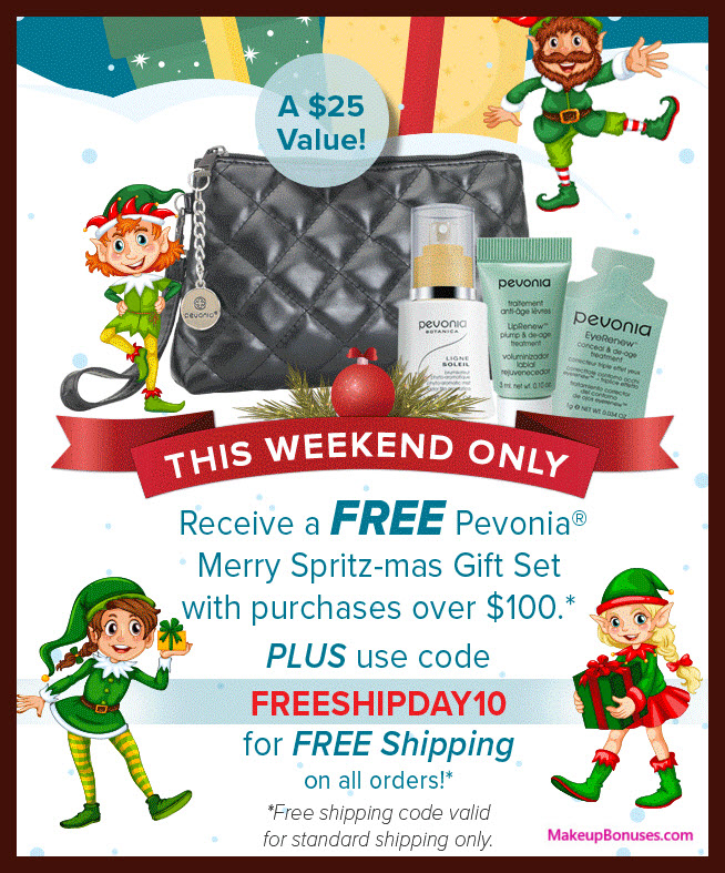 Receive a free 4-pc gift with your $100 Pevonia purchase