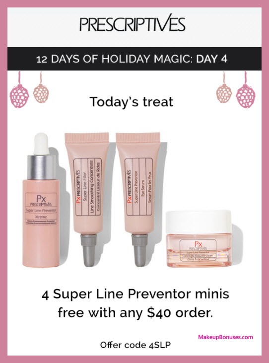 Receive a free 4-pc gift with your $40 Prescriptives purchase