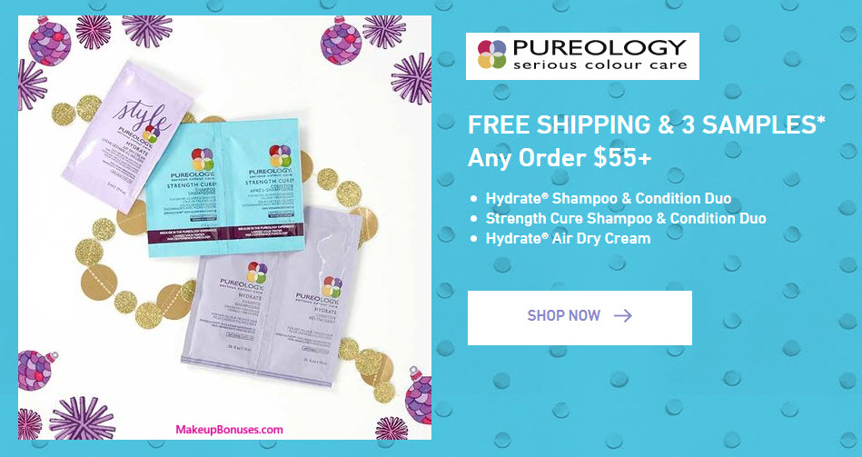Receive a free 3-pc gift with your $55 Pureology purchase