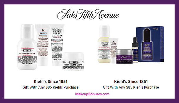Receive a free 8-pc gift with your $85 Kiehl's purchase