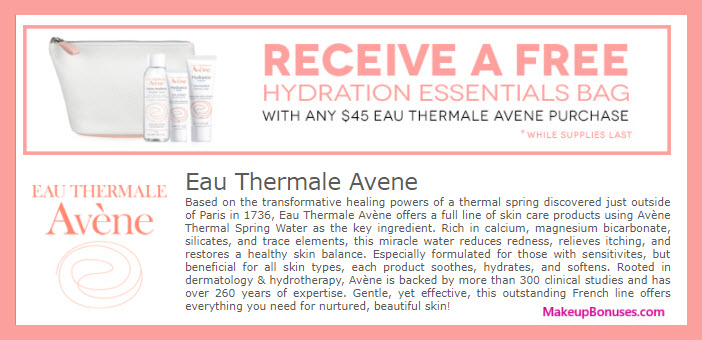 Receive a free 4-pc gift with your $45 Avène purchase