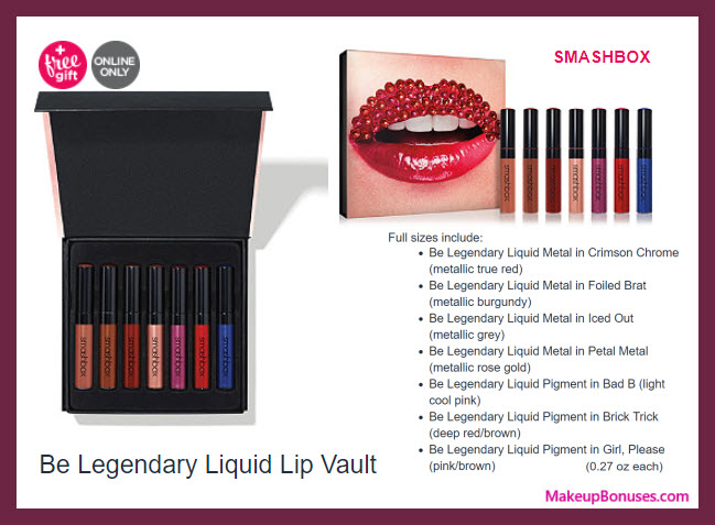 Be Legendary Liquid Lip Vault - MakeupBonuses.com