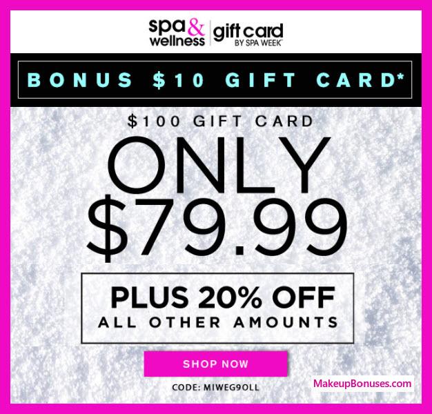 Spa Week Sale - MakeupBonuses.com