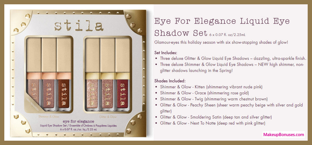 Eye for Elegance Liquid Eye Set - MakeupBonuses.com