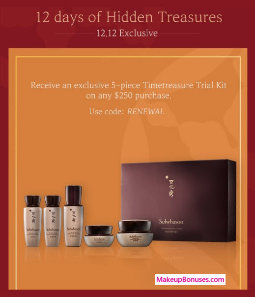 Receive a free 5-pc gift with your $250 Sulwhasoo purchase
