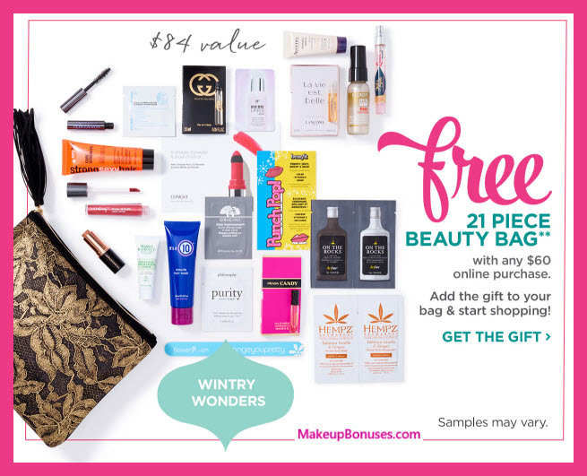 Receive a free 21-pc gift with your $60 Multi-Brand purchase