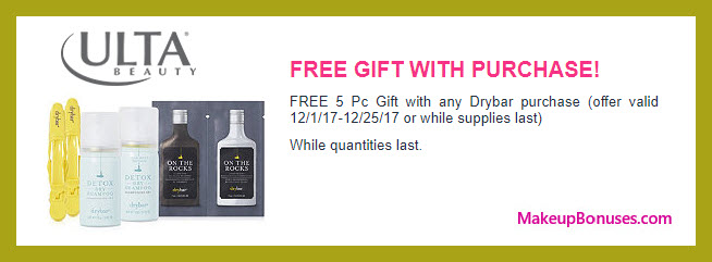 Receive a free 5-pc gift with your any purchase