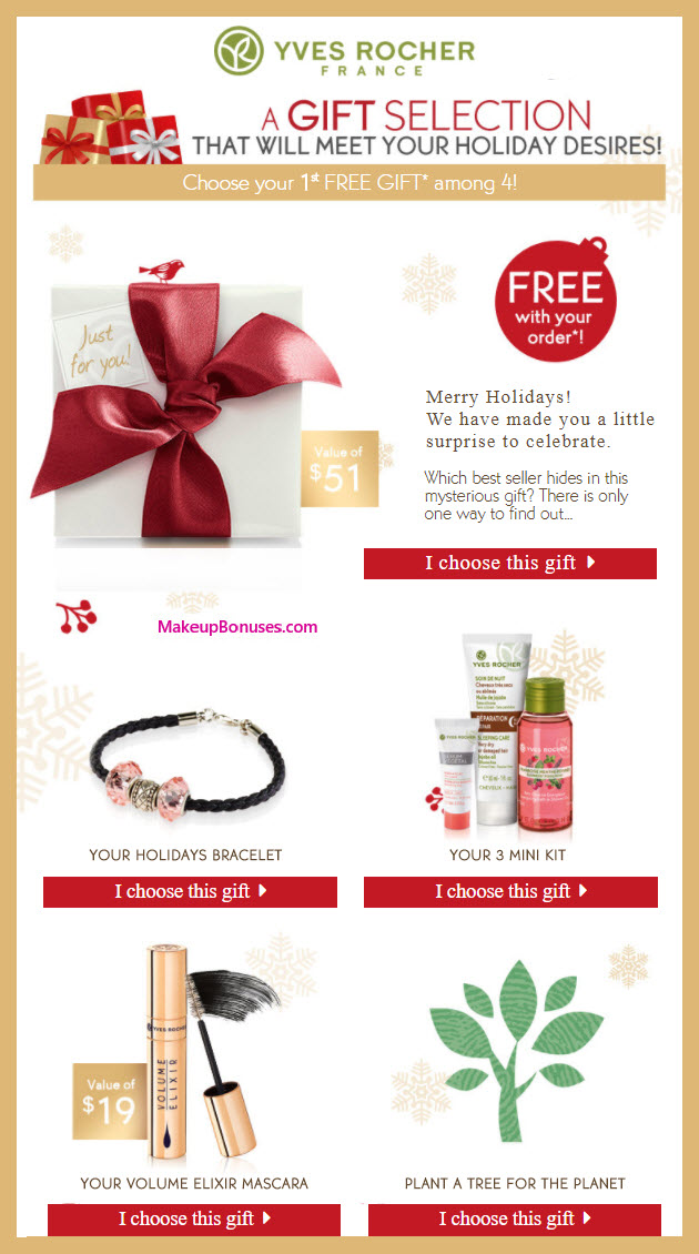 Receive your choice of 3-pc gift with your $10 Yves Rocher purchase