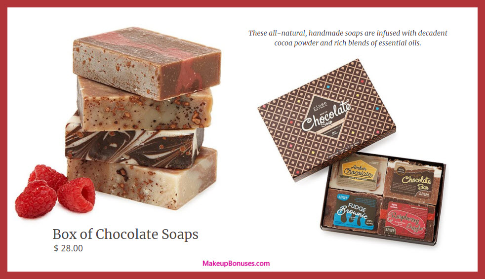Box of Chocolate Soaps - MakeupBonuses.com