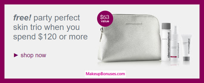 Receive a free 4-pc gift with your $120 Dermalogica purchase
