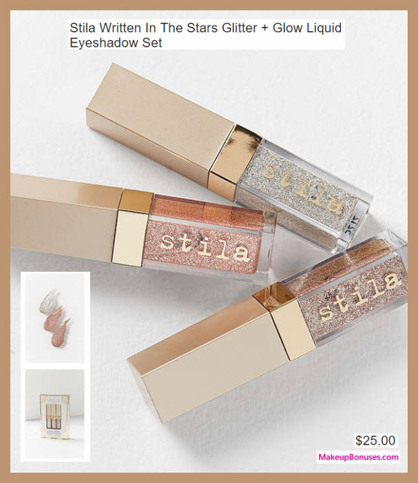 Stila Written In The Stars Glitter + Glow Liquid Eyeshadow Set - MakeupBonuses.com