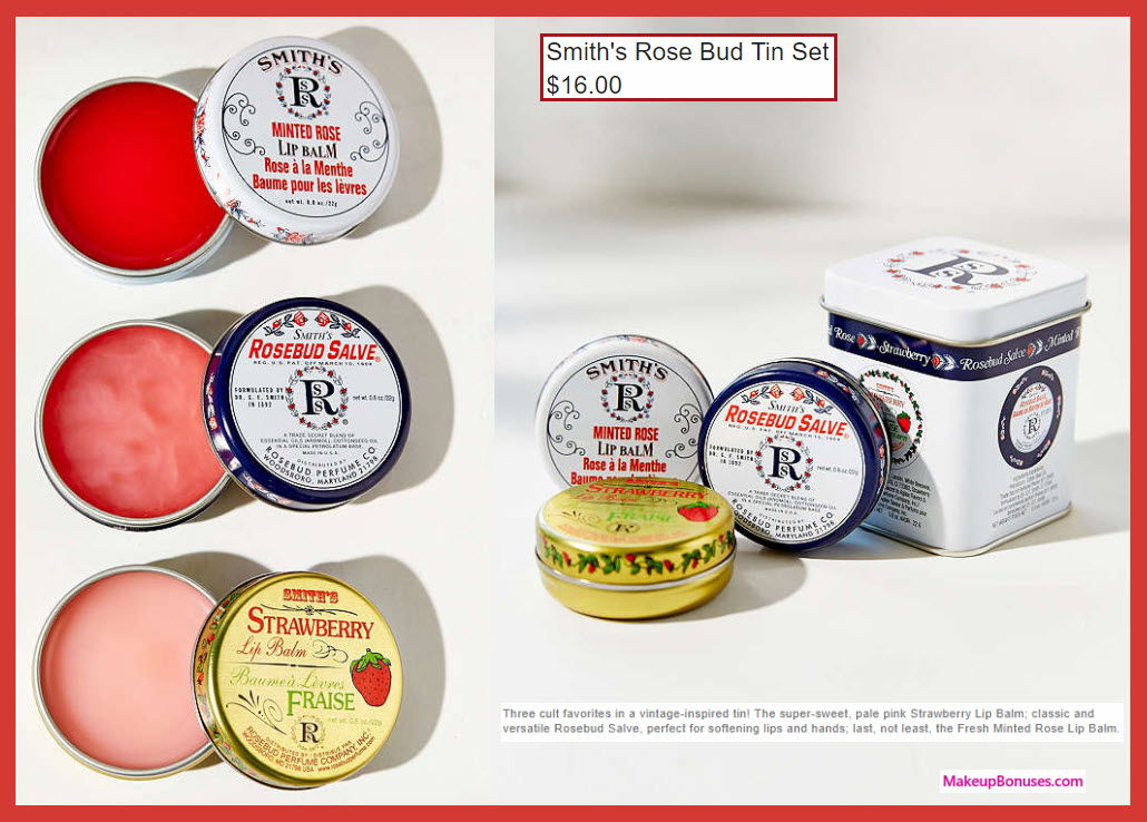 Smith's Rose Bud Tin Set - MakeupBonuses.com
