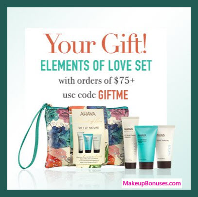 Receive a free 4-pc gift with $75 AHAVA purchase