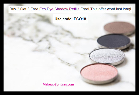 Receive a free 3-pc gift with 2 eyeshadow refills purchase
