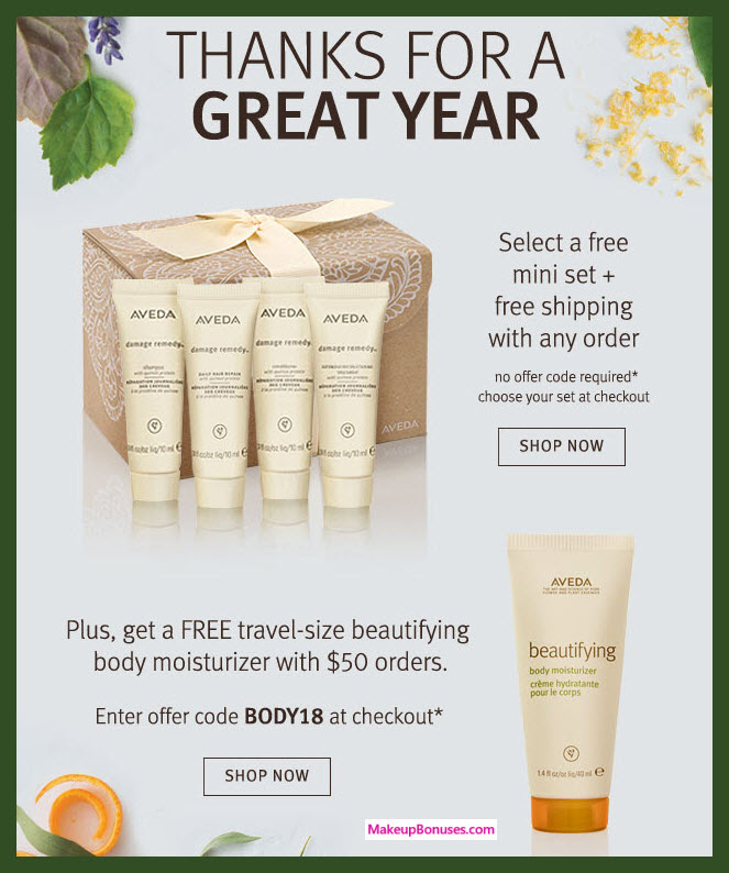 Receive a free 4-pc gift with Any purchase