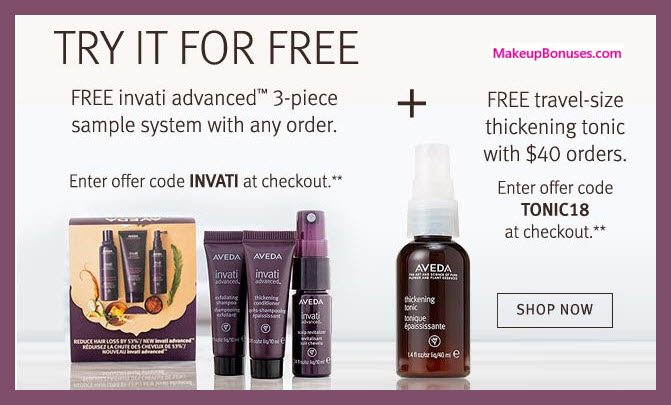 Receive a free 3-pc gift with any purchase