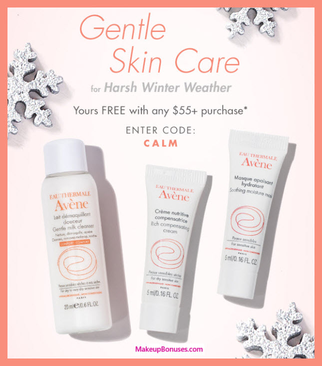Receive a free 3-pc gift with $55 Avène purchase