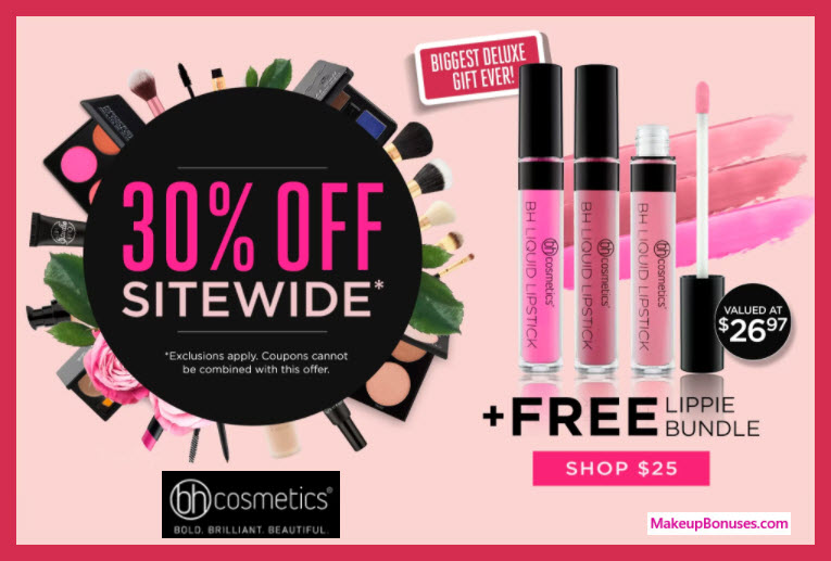 Receive a free 3-pc gift with $25 BH Cosmetics purchase
