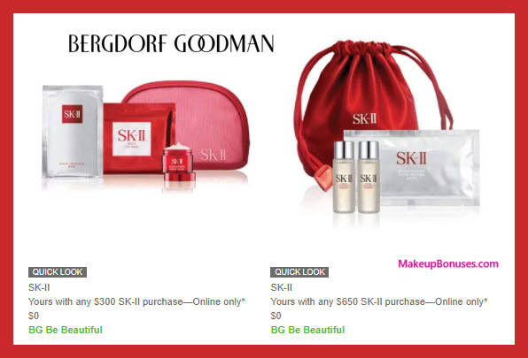 Receive a free 7-pc gift with $650 SK-II purchase