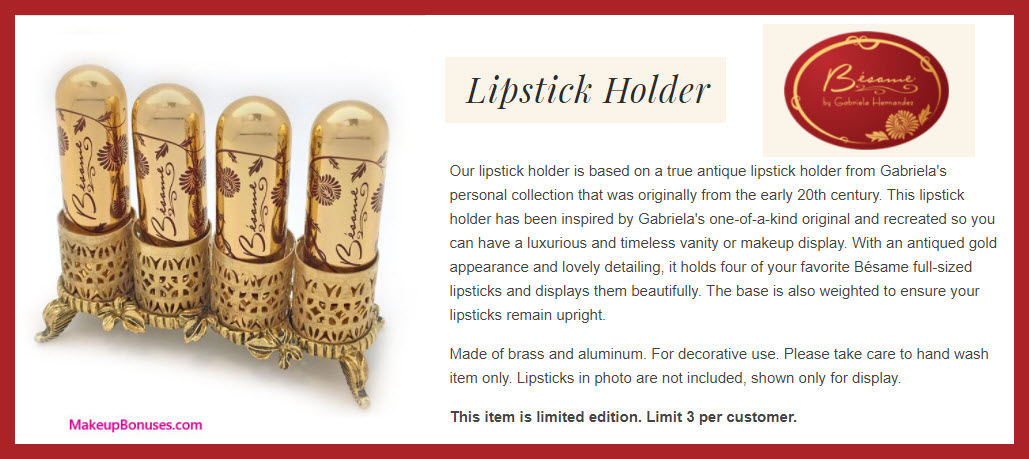Lipstick Holder - MakeupBonuses.com