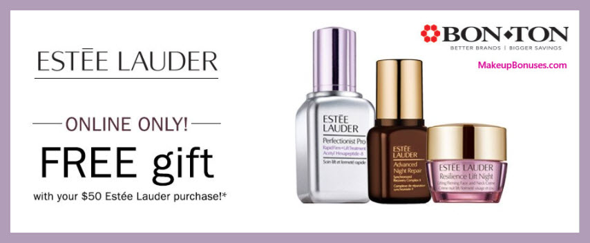 Receive a free 3-pc gift with $50 Estée Lauder purchase
