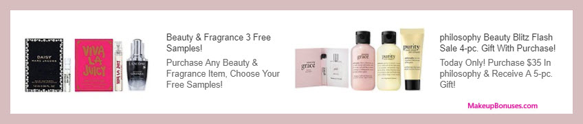 Receive a free 5-pc gift with $35 Philosophy purchase