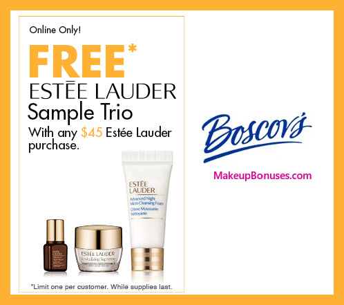 Receive a free 3-pc gift with $45 Estée Lauder purchase