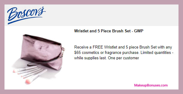 Receive a free 5-pc gift with $65 Multi-Brand purchase