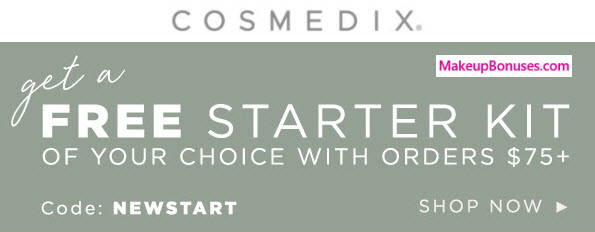 Receive your choice of 4-pc gift with $75 COSMEDIX purchase