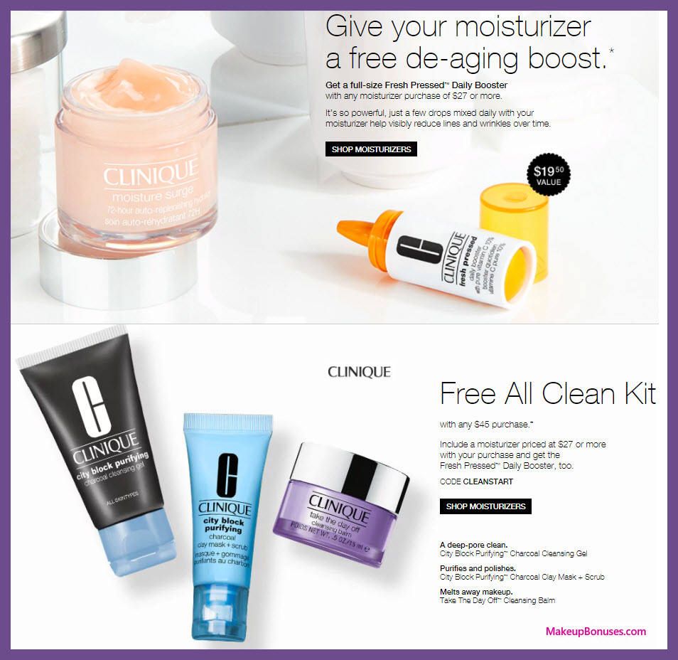 Clinique coupon codes