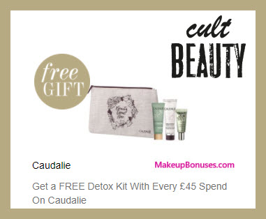 Receive a free 3-pc gift with ~$62 (45 GBP) purchase