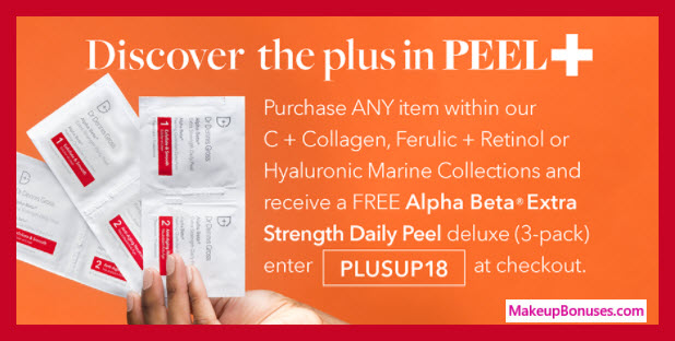 Receive a free 3-pc gift with any C+ Collage, Ferulic + Retinol, or Hyaluronic Marine Collections items purchase