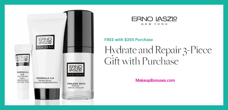 Receive a free 3-pc gift with $225 Erno Laszlo purchase
