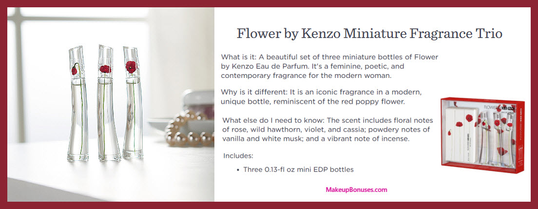 Flower by Kenzo Miniature Fragrance Trio - MakeupBonuses.com