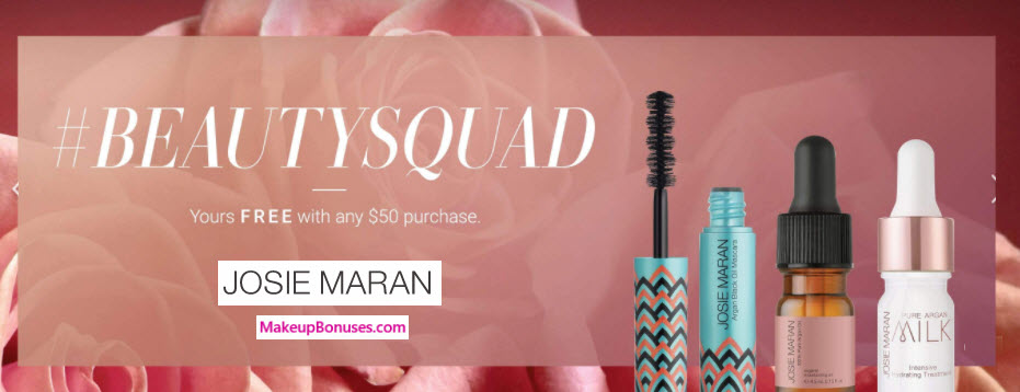 Receive a free 3-pc gift with $50 Josie Maran purchase