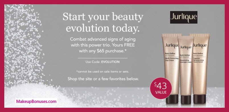 Receive a free 3-pc gift with $65 Jurlique purchase