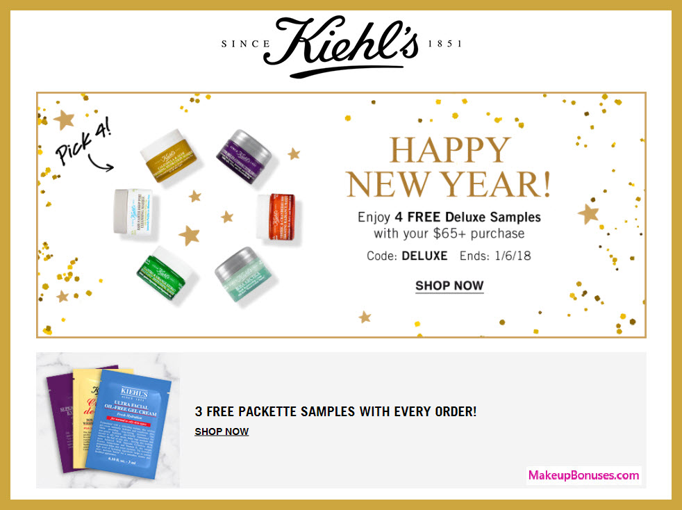 Receive your choice of 4-pc gift with $65 Kiehl's purchase