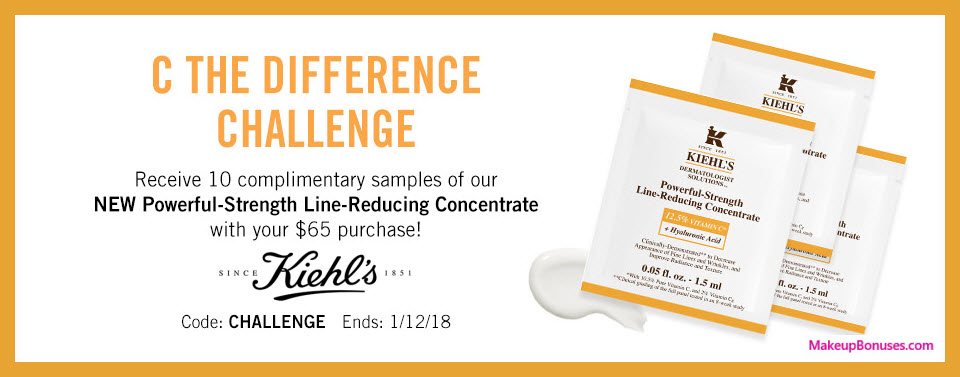 Receive a free 10-pc gift with $65 Kiehl's purchase