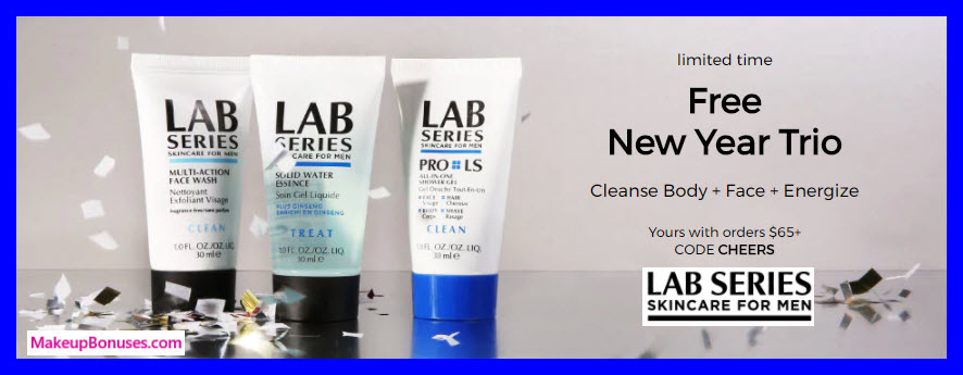 Receive a free 3-pc gift with $65 LAB SERIES purchase