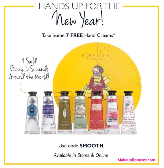 Receive a free 7-pc gift with $95 L'Occitane purchase