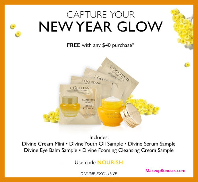 Receive a free 5-pc gift with $40 L'Occitane purchase