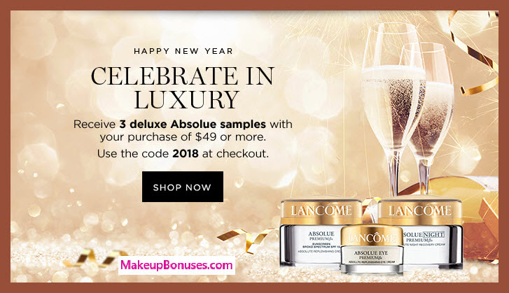 Receive a free 3-pc gift with $49 Lancôme purchase