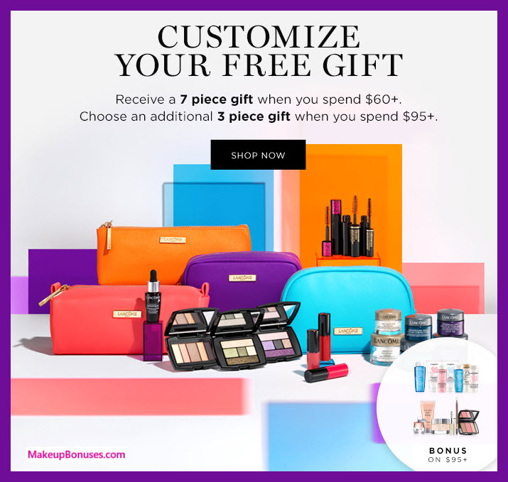 Receive your choice of 7-pc gift with $60 Lancôme purchase
