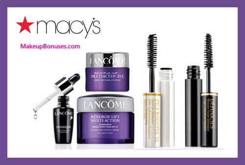 Receive a free 5-pc gift with $75 Lancôme purchase