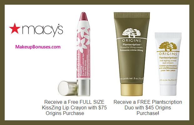 Receive a free 3-pc gift with $75 Origins purchase