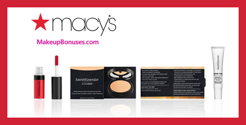 Receive a free 3-pc gift with $35 bareMinerals purchase